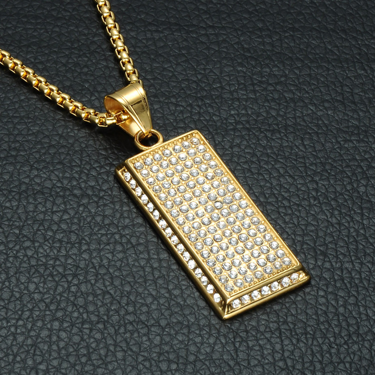 7 Rows Of Iced Pendant