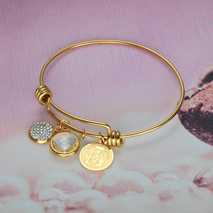 14k Gold Stainless Steel SAN BENITO Bracelet