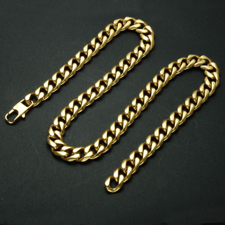 24 INCH 13MM 14k Gold Cuban Link
