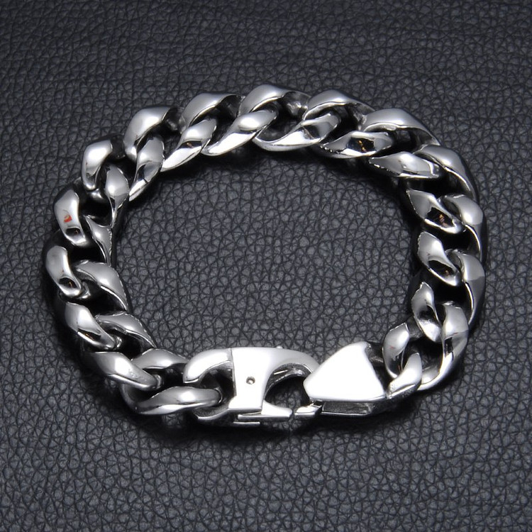 316L Stainless Steel Curb Cuban Link Chain Bracelet