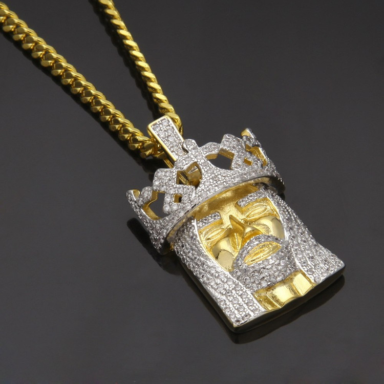Lab Diamond Crowned Jesus Piece