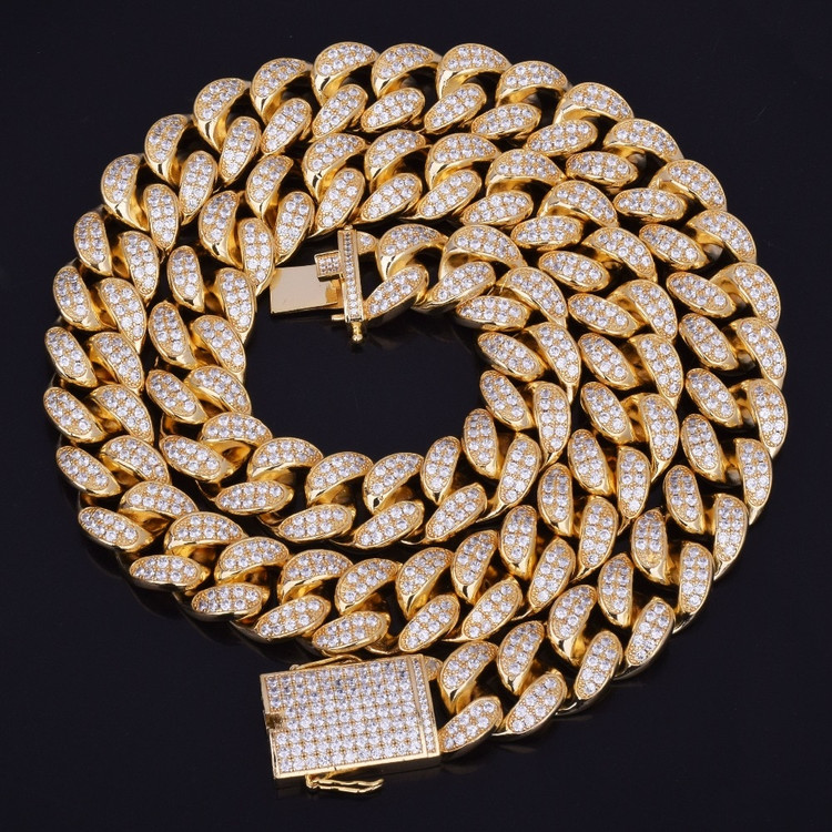 20mm Heavy Iced Out Lab Diamond Miami Cuban Link