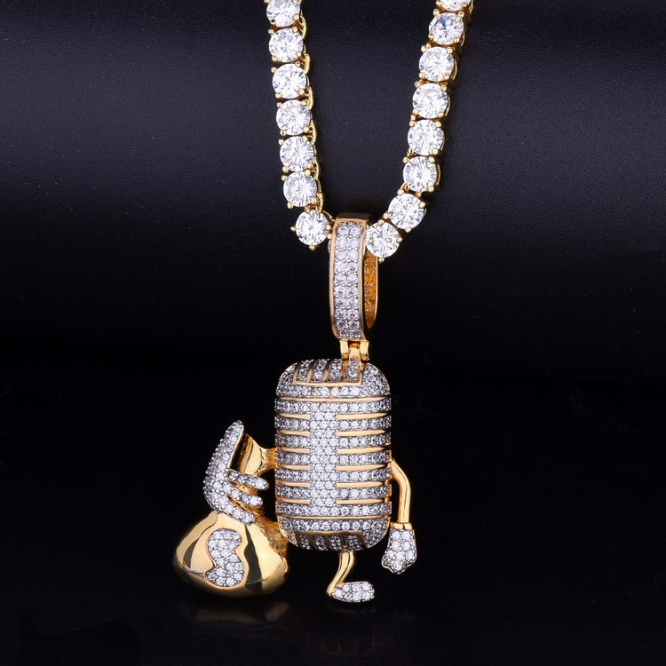 Rap Star Microphone Pendant