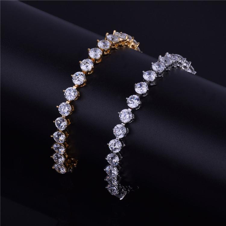 14k Gold Silver Tennis Bracelet