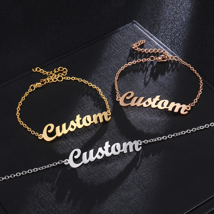 Womens Custom Name Bracelets