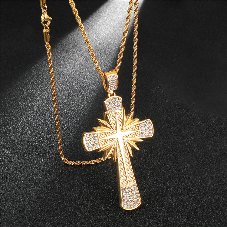 Sunburst Cross Pendant