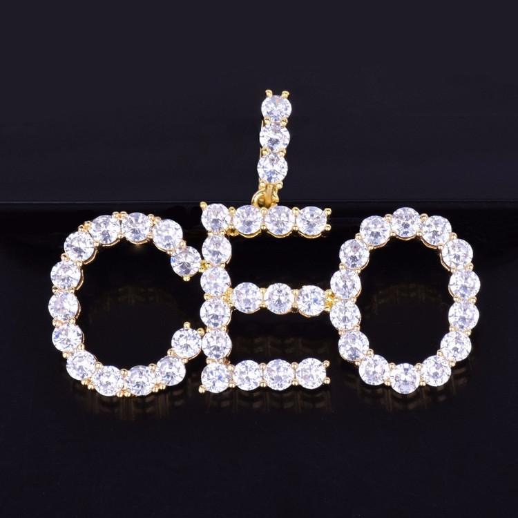 Custom tennis chain pendants