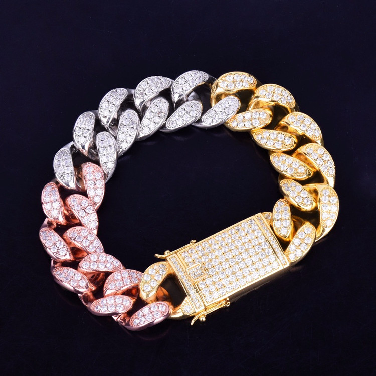 20mm Miami Cuban Link Chain Bracelet