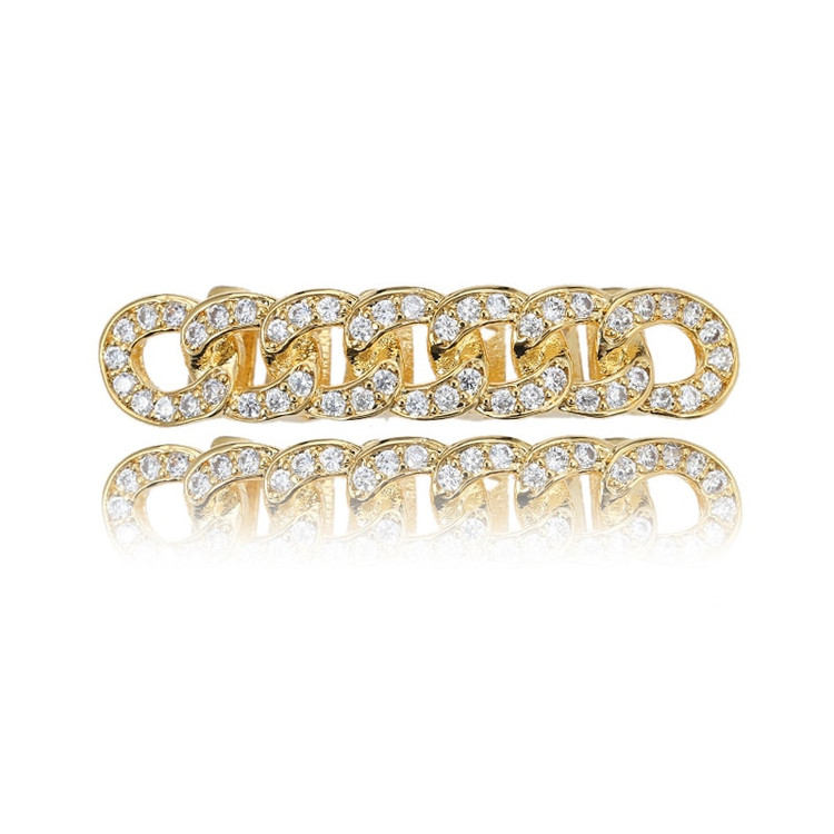 Cuban Link Bottom Tooth Grill