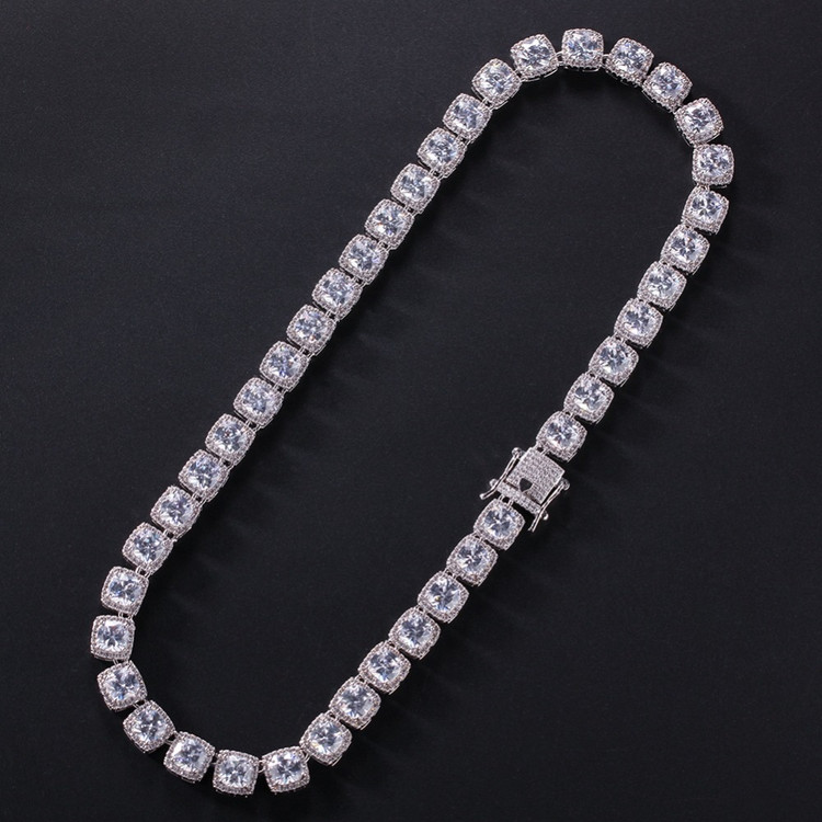1 Row Star .925 Silver Studded Hip Hop Chain