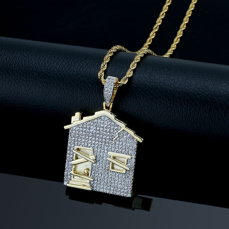 Trap House Pendant Chain Necklace
