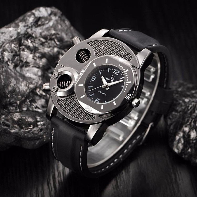 Black Silicone Fashion Mens Casual Luxury Sport Wristwatch