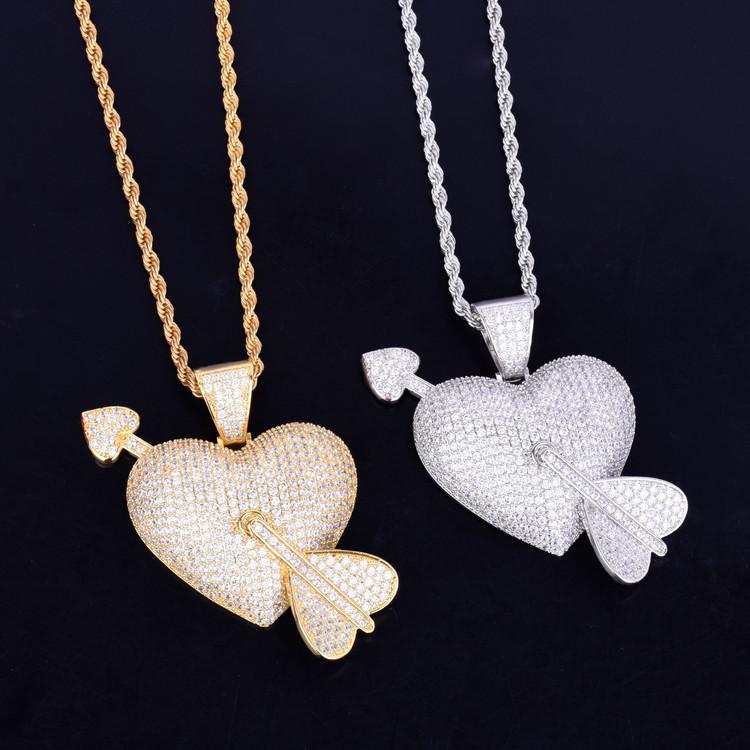 IcedOut Heart Pendant