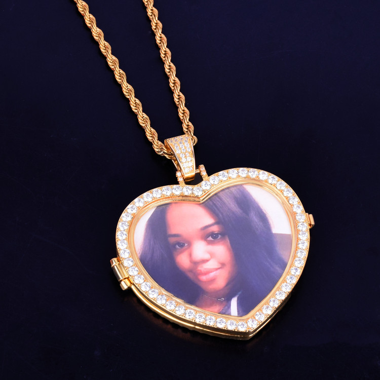 Custom Photo Heart Pendant