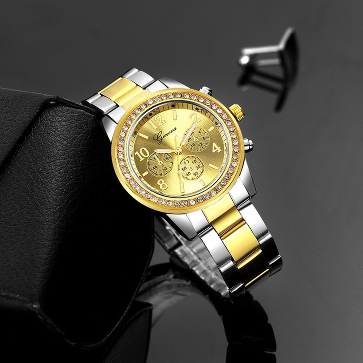 Two Tone Iced Luxury Watch