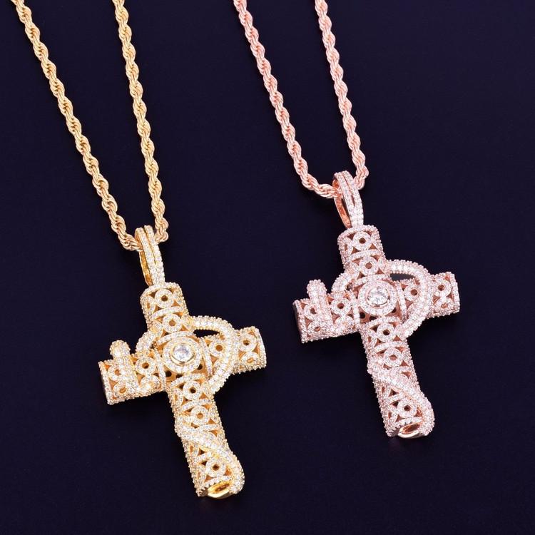 Custom Snake Cross Pendant