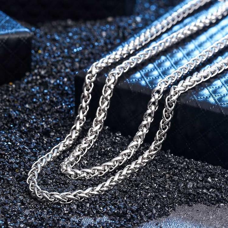 925 Sterling Silver Men's Franco Link Hip Hop Chain Necklace