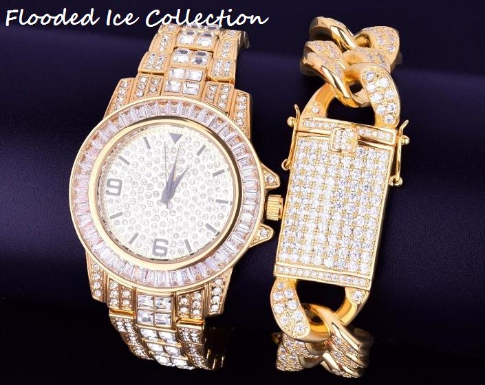 Bling Jewelz Watch Bracelet Combo