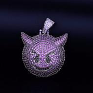 8032c3488e084 Purple Demon Evil Emoji Lab Diamond Hip Hop Pendant