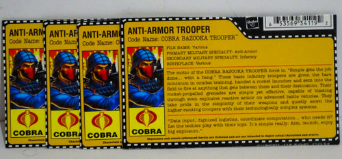 Anti-Armour Trooper Bazooka Cobra File Card GiJoe