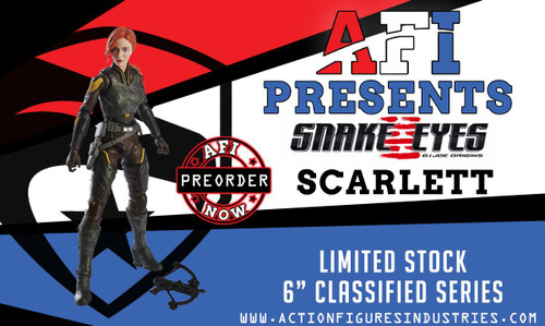 Gijoe Movie Scarlett Classified 6""