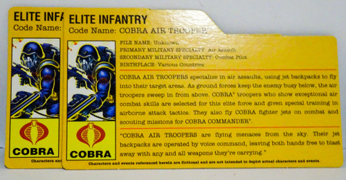 Cobra Elite Infantry Air Trooper GiJoe