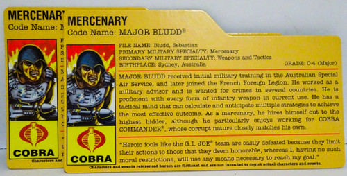 Major Bludd Mercenary Filecard GiJoe