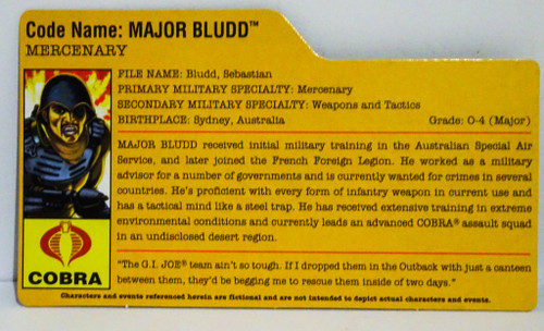Major Bludd Filecard GiJoe