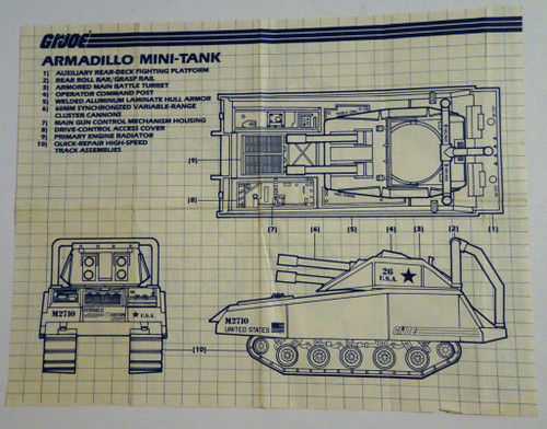 Armadillo Tank 1985 Blueprint GiJoe