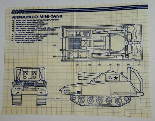 Armadillo Tank 1985 Blueprint GiJoe