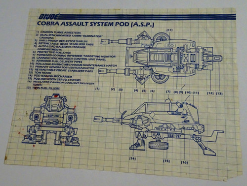 Cobra ASP 1984 Blueprint GiJoe