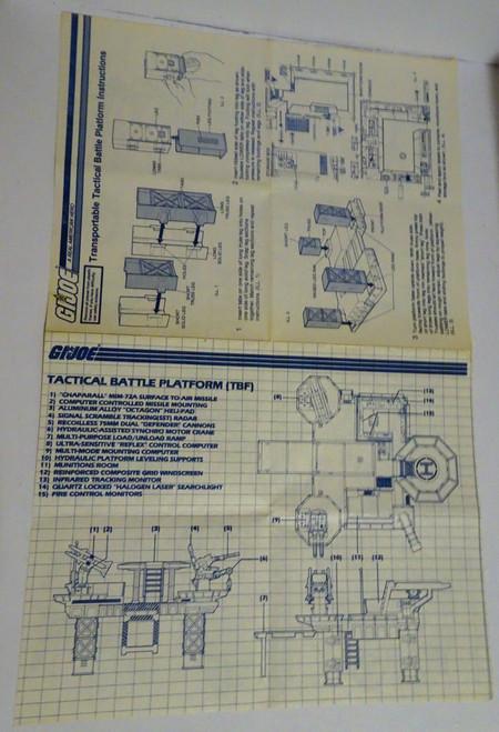 Battle Platform 1985 Blueprint GiJoe