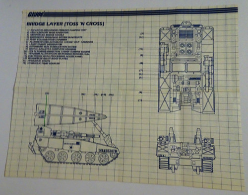 Bridge Layer 1985 Blueprint #3 GiJoe