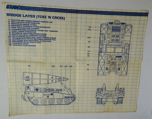 Bridge Layer 1985 Blueprint GiJoe