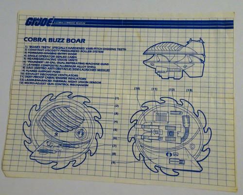 Buzzboar 1987 Blueprint GiJoe