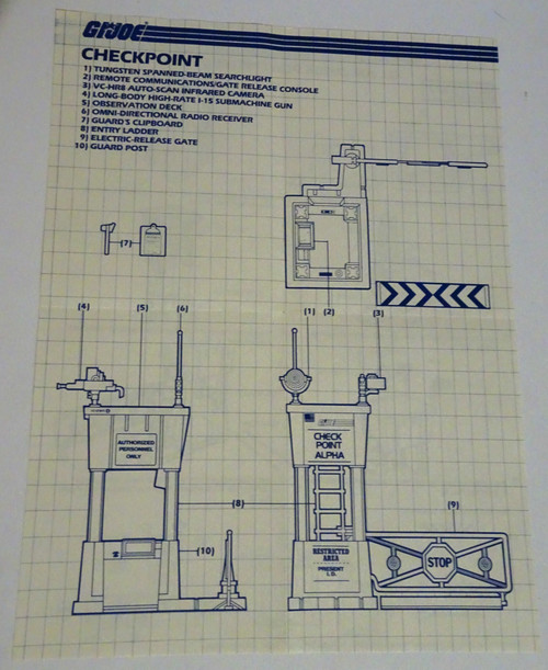 Check Point Alpha 1985 Blueprint GiJoe