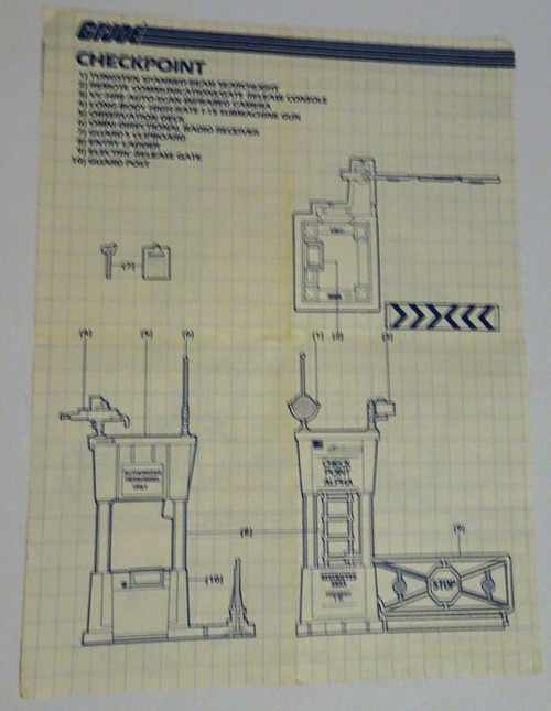 Check Point Alpha 1985 Blueprint #2 GiJoe