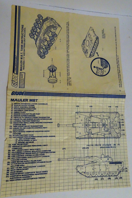 Mauler 1985 Blueprint GiJoe