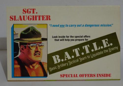 SGT Slaughter Mailaway catalouge Uncut GiJoe