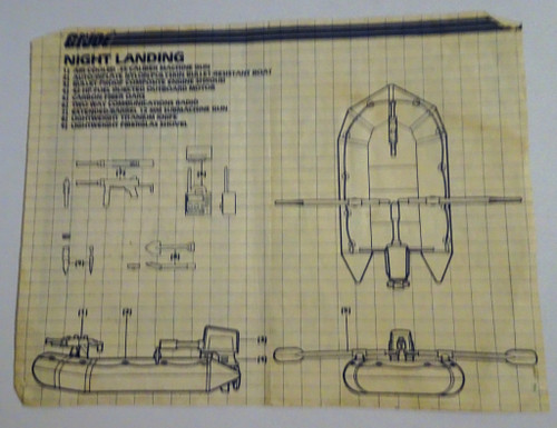 Night Landing Blueprint 1985 GiJoe
