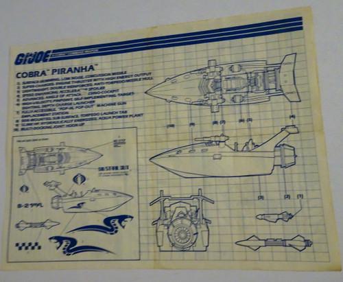 Cobra Piranha Blueprint 1990 GiJoe