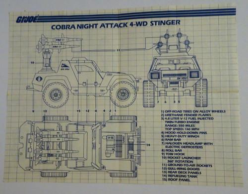 Cobra Stinger 1984 Blueprint GiJoe