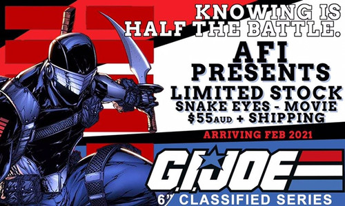 "Gi Joe  Classified 6"" Snake Eyes Movie Version"