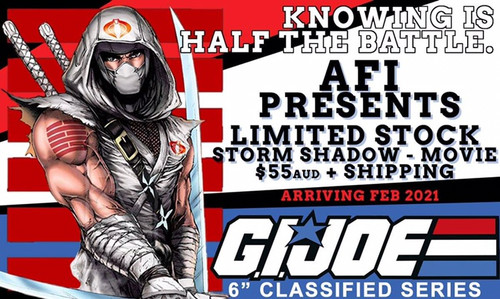 "Gi Joe Classified 6"" Storm Shadow Movie Version"