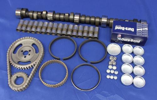 Early SBC Chevy 350 5.7L Marine Master Engine Rebuild Kit Camshaft Pistons