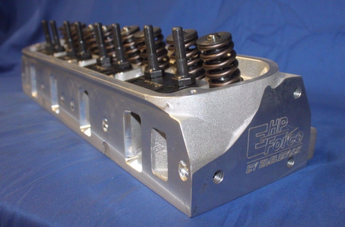 """SBF Ford E-Force HP Aluminum Cylinder Head 170cc, 60cc 2.02"""" 1.60"""" By Edelbrock"""