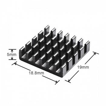 Aluminum Heatsink Black (2pcs)
