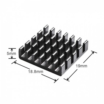 Aluminum Heatsink Black (2pcs)