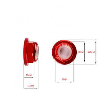 Low Profile M5 Aluminum Lock Nuts 5pcs
