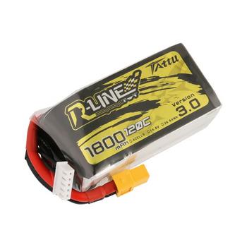 Tattu R-Line Version 3.0 1800mAh 14.8V 120C 4S1P Lipo Battery Pack with XT60 Plug